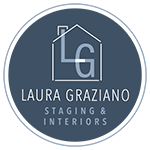 Laura Graziano Staging and Interiors blue circle badge